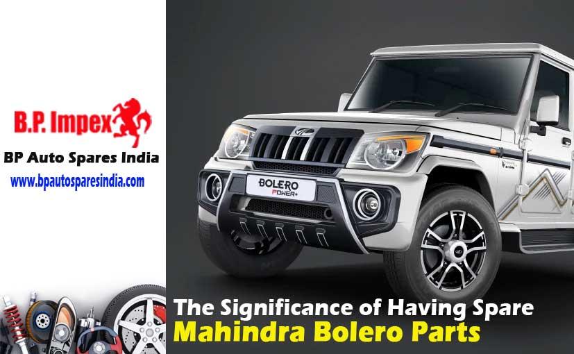 Mahindra Bolero Parts